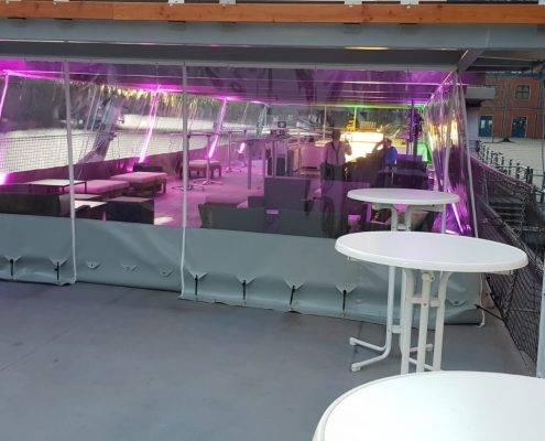 Winter-Pavillon, bei jedem Wetter gemütlich auf dem Deck