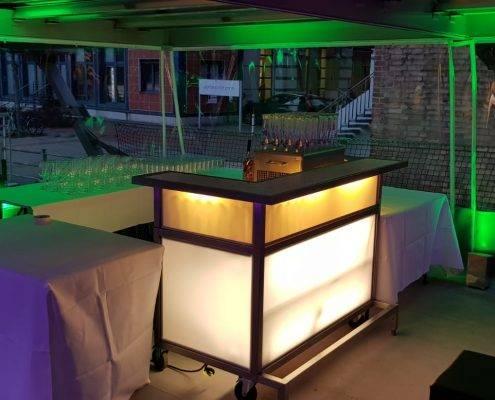 Winter-Pavillon, die Beleuchtung macht die Stimmung