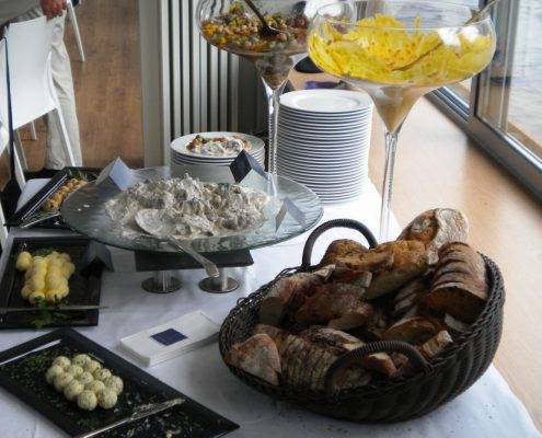 Catering an Bord des Seminarschiffes