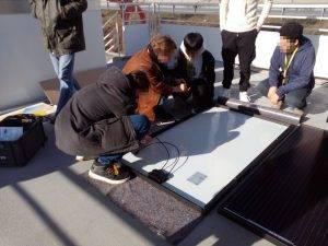 Eine Solarplatte Zerlegen