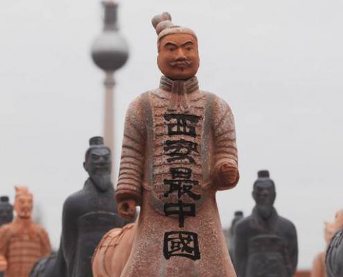 Xi'ans legendäre chinesische Terrakotta-Armee auf dem Seminarschiff