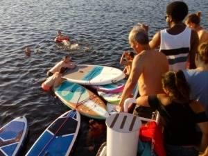 Badespaß auf dem Seminarschiff